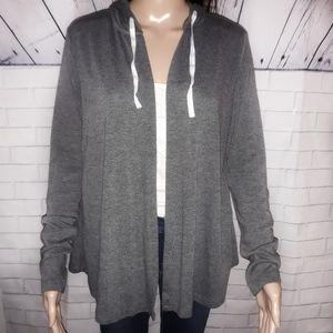 Open up drawstring hoodie
